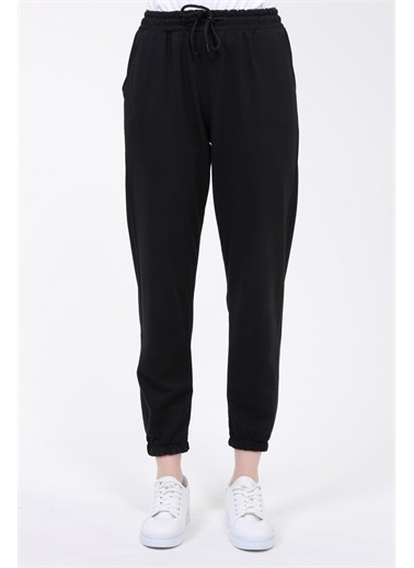 Rodi Jeans Kadın Basic Paça Lastikli Alt Eşofman TY21YB090140 Siyah